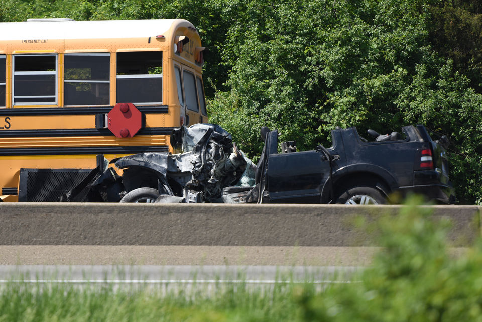 1 killed, 7 injured in crash involving school bus on eastbound I-94 near U.S. 23