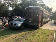 Streetcar involved in crash on St. Charles Avenue