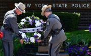 New York State Police fill time capsule, remember fallen troopers