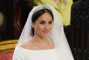 Meghan Markle's wedding dress: See photos of tiara, gown