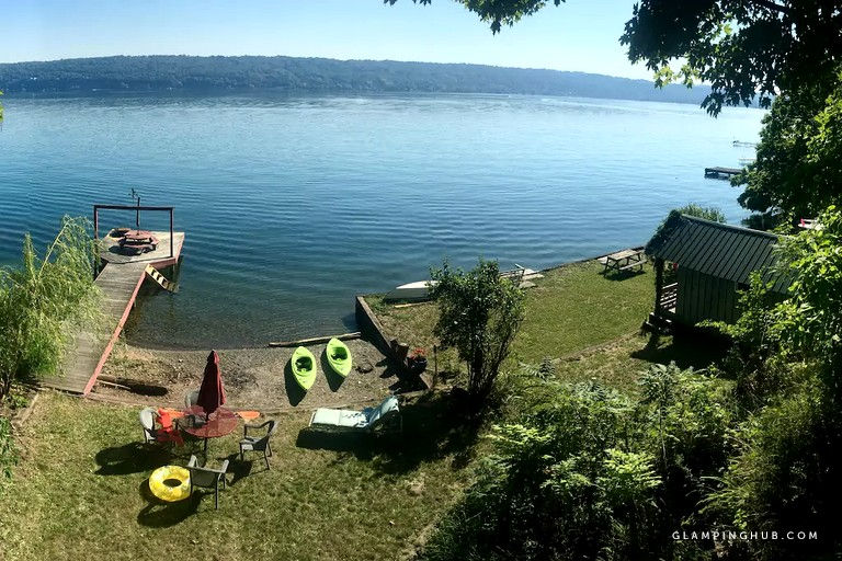 22 places for lakeside glamping in Upstate NY