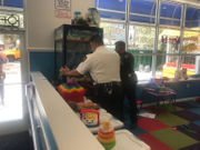 Boy gets stuck climbing into arcade claw machine. And he never got the toy.