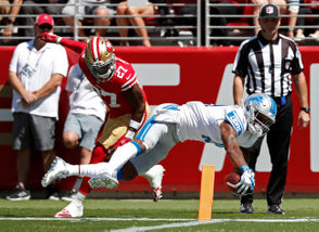 Here are Associated Press photos from the Lions' game against the 49ers.