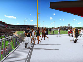 New renderings released June 2018 of the new $46 million multi-use stadium facility in Madison.