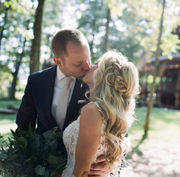 A woodland wedding unites long-distance lovers (photos)