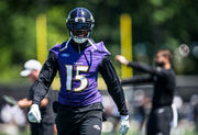 Ravens' Michael Crabtree feels motivated entering Year 10 — even with daily reminders of his age