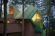 Architect Oshatz's triangle house in the woods is for sale for the first time in 35 years (photos, video)