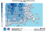 How much snow will Massachusetts get on Friday?