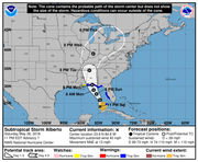 Subtropical Storm Alberto is in the Gulf of Mexico