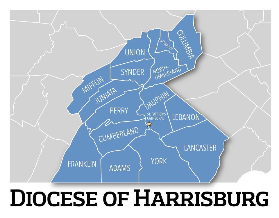 Where offenders served in the Harrisburg diocese: parishes ... on
