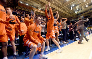The Syracuse Orange knocked off No. 1-ranked Duke 95-91 in overtime on Monday night. The Orange became the first unranked team to beat a No. 1-ranked Duke team at Cameron Indoor Stadium. Duke had been 90-0 against unranked teams at home when the Blue Devils were atop the Associated Press poll. Syracuse also became just the second school to ever beat No. 1 Duke at home. North Carolina had been the only team with a win at Cameron Indoor over a No. 1 Duke team. The win over Duke marked the fifth time that Syracuse had beaten the nation's No. 1 team.  Here is a look at all five of those wins: