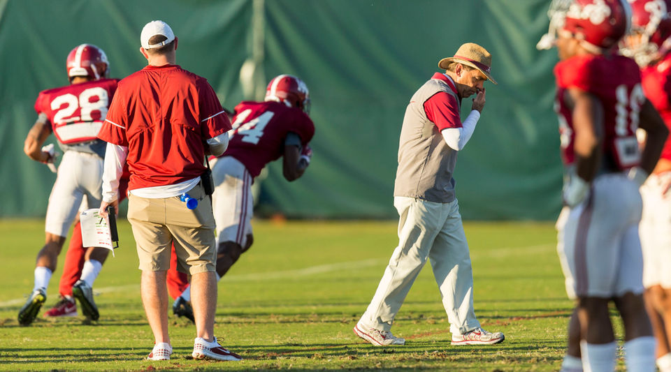 Alabama practice report: Shuffling in dime package with star DB out