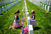 Families spend time with loved ones at Great Lakes National Cemetery