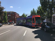 Portland Streetcar derails in crash involving multiple vehicles in Central Eastside