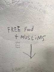 Anti-Muslim graffiti stains wall of Great Kills Park bathroom