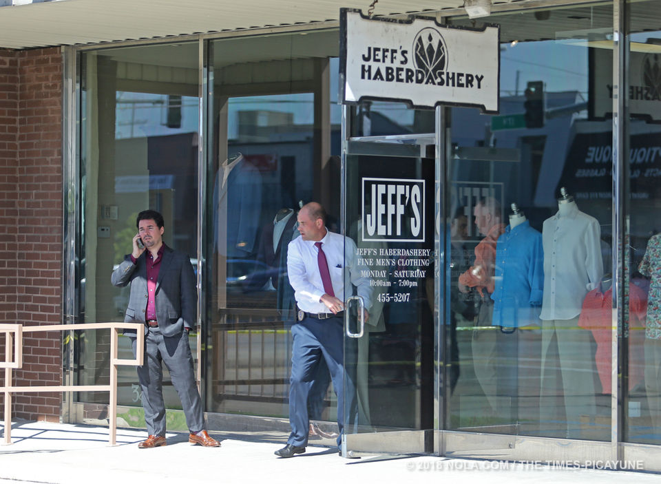 Armed robbery at Jeff's Haberdashery