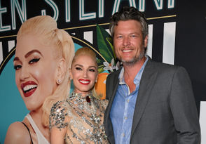 """Singer Gwen Stefani (L) and recording artist Blake Shelton attend the grand opening of her """"Gwen Stefani - Just a Girl"""" residency at Planet Hollywood Resort & Casino on June 28, 2018 in Las Vegas, Nevada."""