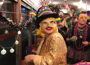 New Funky Uptown Krewe grooves on the St. Charles streetcar with DJ Mannie Fresh