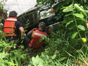 Truck crashes into Lehigh River after apparent medical emergency