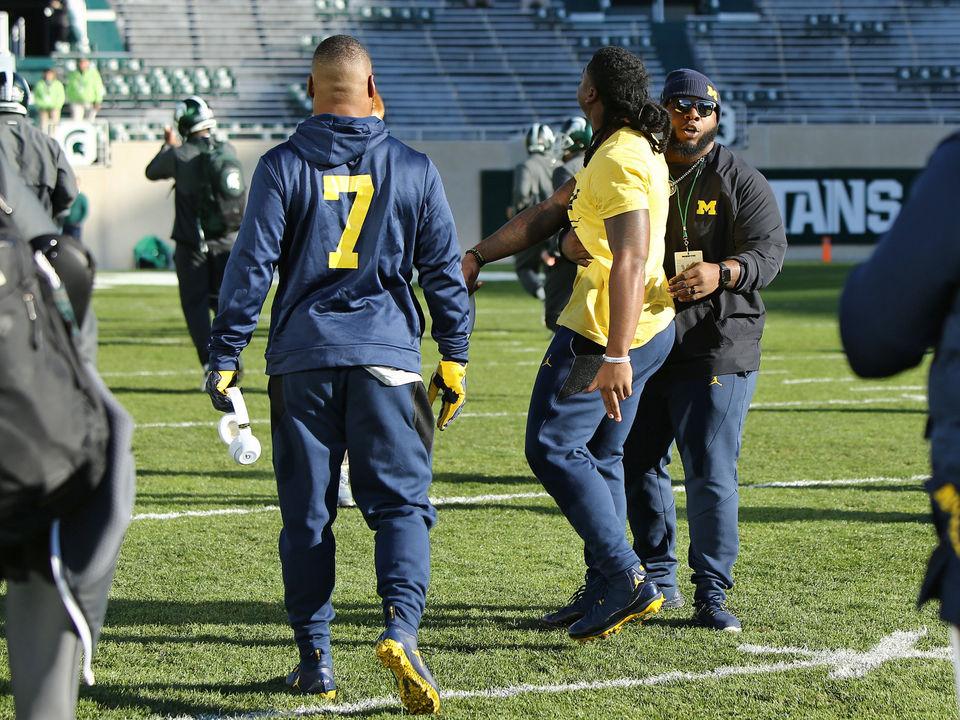 Devin Bush Jr. explains his pre-game stomp at MSU
