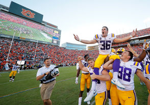 Cole Tracy's 42-yard field goal as time expired lifted LSU to a 22-21 victory over Auburn, Saturday, Sept. 15, 2018.