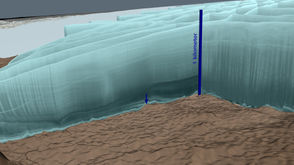 Team of researchers, NASA make unexpected discovery of meteor impact crater beneath half-mile of Greenland's ice.