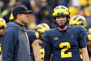 Michigan, as expected, remained No. 4 in this week's College Football Playoff rankings. The Wolverines visit Ohio State on Saturday. Win The Game, and Michigan would advance to the Big Ten Championship against Northwestern. Win that, and U-M would almost certainly earn a spot in the four-team playoffs. Lose either one and Michigan would have little to no chance at being selected for the playoffs. Let's examine the potential scenarios heading into the final weekend of the regular season.