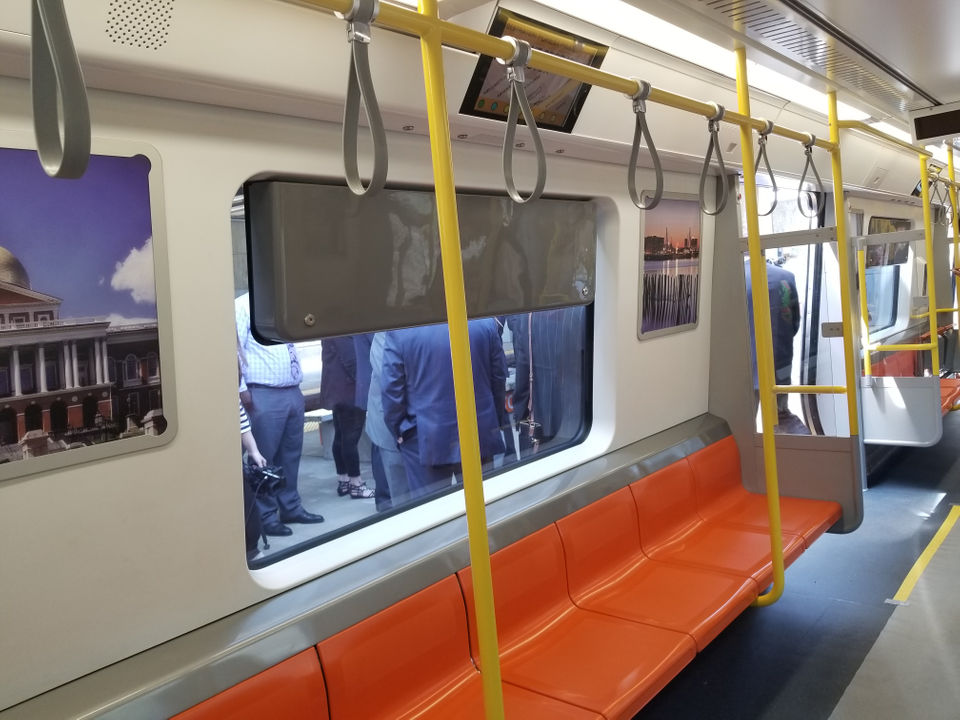 See the mbtas new orange line cars take to a test track in boston when are they coming sciox Gallery