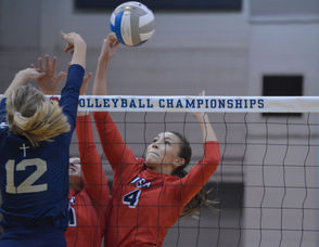 BATTLE CREEK, MI - The 2018 MHSAA volleyball final four kicked off Thursday with semifinal action from Division 2 and Division 3 at Kellogg Arena. The state's top teams ranging from the Upper Peninsula to the Indiana border have fought for the right to take the court in the season's final weekend, and MLive is bringing you the high-energy action from Day 1 the state semifinals. From the first Division 3 matchup between Unionville-Sebewaing and Traverse City St. Francis to the last Division 2 bout between Pontiac Notre Dame Prep and Corunna, follow along to see all the highlights from Thursday's semifinal action. Content will be updated throughout the day as matches finish.