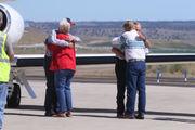 Oregon ranchers pardoned by Trump arrive in Burns via private jet