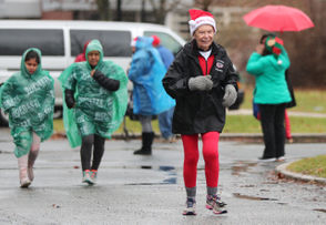 Angela Conte in the Staten Island Special Olympics Patrick's 2-Mile Jingle Bell Run, held on the grounds of the S.I. Developmental Center. December 16, 2018. (Staten Island Advance/Derek Alvez)