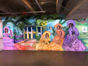 Azalea Trail Maids welcome visitors to Mobile on new mural