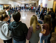 School-walkout unity also lays bare division among students