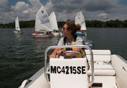 Children get their start on the water by sailing on Reeds Lake