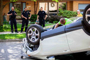 1 injured in rollover crash on Ann Arbor's west side