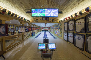 Bowling, anyone? There's an alley at Southern Falls Plantation, in the Mill Creek Saloon.