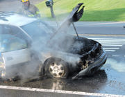 Car fire shuts down major Palmer road for morning rush hour (PHOTOS)