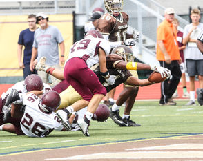 Milton Hershey, Carlisle and Shippensburg scrimmaged at Milton Hershey on Saturday, August 18, 2018.