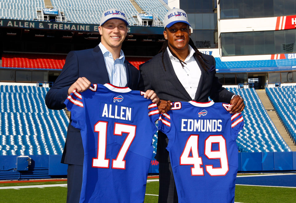 hot sale online 7af34 a5bd8 Tremaine Edmunds' advice for Josh Allen in first NFL start ...