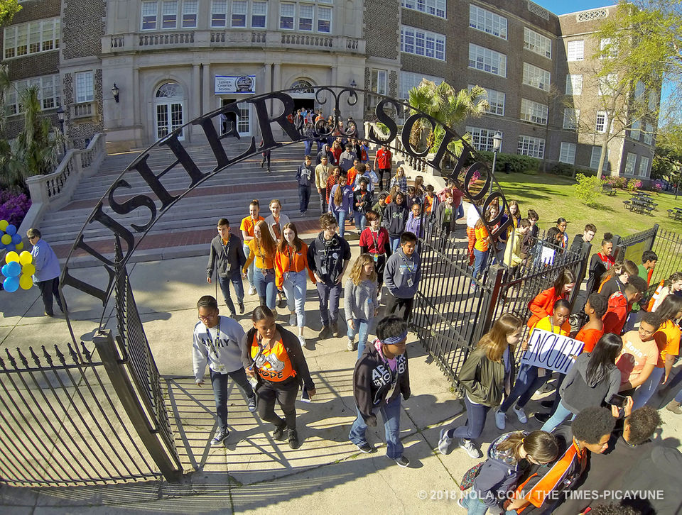 New Orleans Students Walk Out to Protest Gun Violence