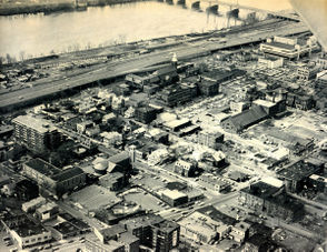 An undated aerial showing an area of the city' s South End.