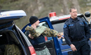 Standoff ends with 'incoherent' man taken for medical treatment