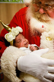 Santa Claus brings cheer to families at Akron Children's Neonatal Intensive Care Unit