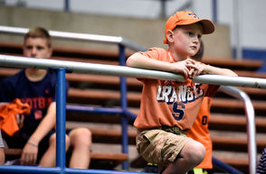 The 2018 Preferred Mutual 'Cuse Family Fun Fest was held at Manley Field House, Saturday Aug.18, 2018. Fans were invited to meet their favorite Orange football players.
