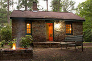 You'll find peaceful scenery (and Tiger pride) at rustic cabins at Auburn's Chewacla State Park