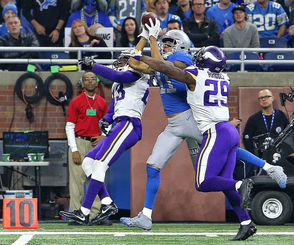 Jones broke out for his first 1,000-yard season last year, leading the NFL with 18 yards per catch and scoring nine touchdowns along the way. In his third year working with Matthew Stafford, though, he's fallen off to his lowest yards per game yet en route to notching 508 yards through nine games. He does have five touchdowns, but that isn't jumping off the page either. Too much of his production has come in a seven-catch, 117-yard, two-touchdown performance against the Seahawks in Week 8.