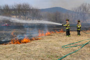 Wind whips up Greenwich Township brush fire (PHOTOS)