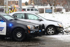 Crashes at Fletcher Ave and Solon St. along W Main. The crashes were of among three that occurred along W Main.