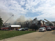 One resident, two firefighters hospitalized after fire ravaged Olmsted Falls condominium complex