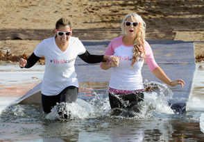 The 14th annual Penguin Plunge was held Saturday at Hampden Ponds State Park in Westfield